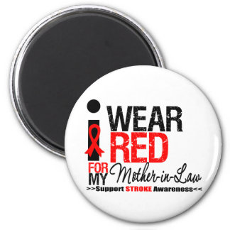 Stroke Awareness I Wear Red Ribbon For My Mother-i Magnets