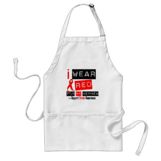 Stroke Awareness I Wear Red Ribbon For My Nephew Adult Apron