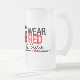 Stroke Awareness I Wear Red Ribbon For My Sister Coffee Mugs