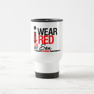 Stroke Awareness I Wear Red Ribbon For My Son Coffee Mugs