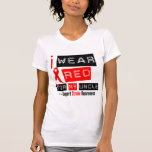 Stroke Awareness I Wear Red Ribbon For My Uncle Tee Shirts