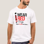 Stroke Awareness I Wear Red Ribbon For My Wife T-Shirt