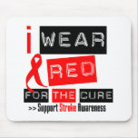 Stroke Awareness I Wear Red Ribbon For The Cure Mouse Mats
