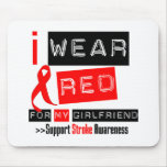 Stroke Awareness I Wear Red Ribbon Girlfriend Mouse Pads