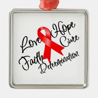 Stroke Awareness Love Hope Determination Christmas Tree Ornaments