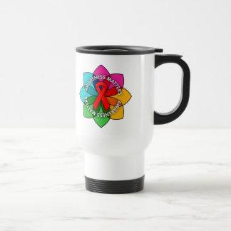 Stroke Awareness Matters Petals Travel Mug
