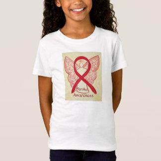 Stroke Awareness Red Ribbon Angel Shirt