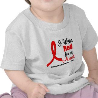 Stroke Awareness - Red Ribbon (Aunt) T Shirt