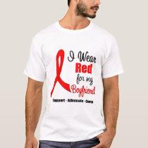 Stroke Awareness - Red Ribbon (Boyfriend) T-Shirt