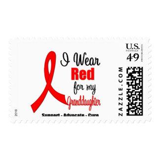 Stroke Awareness - Red Ribbon (Granddaughter) Stamps