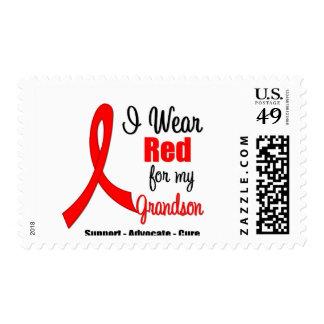 Stroke Awareness - Red Ribbon (Grandson) Stamp