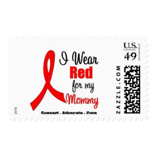 Stroke Awareness - Red Ribbon (Mommy) Stamp