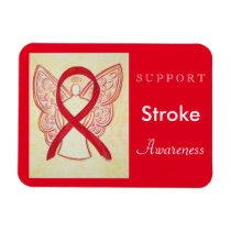 Stroke Awareness Ribbon Angel Custom Magnet