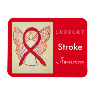 Stroke Awareness Ribbon Angel Custom Magnet