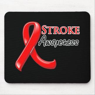 Stroke Awareness Ribbon Mouse Pads