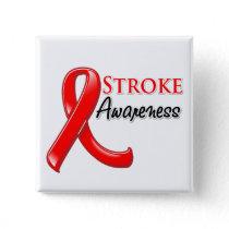 Stroke Awareness Ribbon Pinback Button