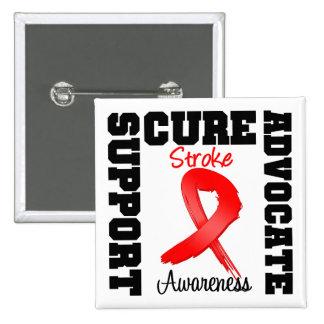Stroke Awareness Support Advocate Cure 2 Inch Square Button
