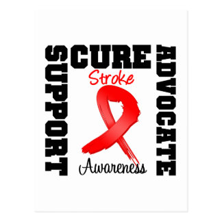 Stroke Awareness Support Advocate Cure Postcard