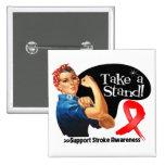 Stroke Awareness Take a Stand 2 Inch Square Button