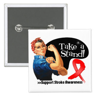 Stroke Awareness Take a Stand Pinback Button