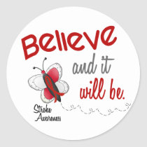 Stroke Believe BUTTERFLY SERIES 2 Classic Round Sticker