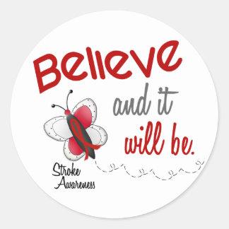 Stroke Believe BUTTERFLY SERIES 2 Classic Round Sticker