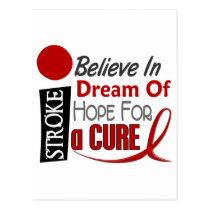 Stroke BELIEVE DREAM HOPE Postcard
