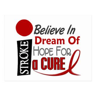 Stroke BELIEVE DREAM HOPE Post Card