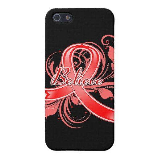 Stroke Believe Flourish Ribbon iPhone 5 Cover