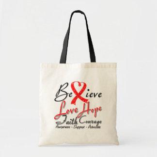 Stroke Believe Heart Collage Canvas Bag