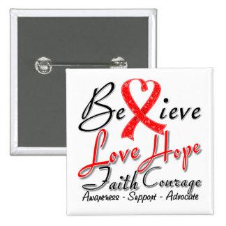 Stroke Believe Heart Collage Pins