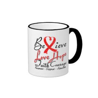Stroke Believe Heart Collage Coffee Mug