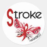 Stroke BUTTERFLY 3.1 Classic Round Sticker