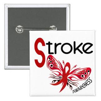 Stroke BUTTERFLY 3.1 Pinback Button