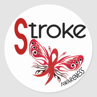 Stroke BUTTERFLY 3.1 Classic Round Sticker