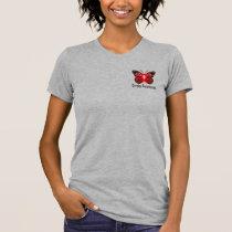 Stroke Butterfly Awareness Ribbon T-Shirt