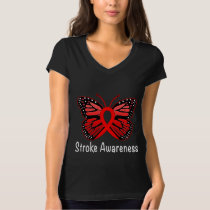 Stroke Butterfly Awareness Ribbon T-Shirt