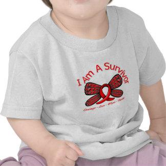 Stroke Butterfly I Am A Survivor Tee Shirt