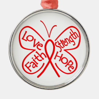 Stroke Butterfly Inspiring Words Christmas Tree Ornaments