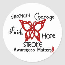 Stroke Celtic Butterfly 3 Classic Round Sticker
