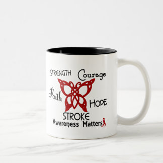 Stroke Celtic Butterfly 3 Two-Tone Coffee Mug