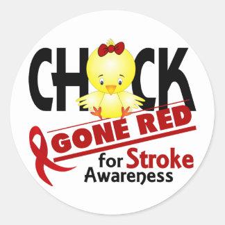 Stroke Chick Gone Red 2 Classic Round Sticker