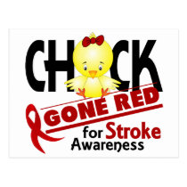 Stroke Chick Gone Red 2 Postcard