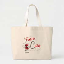 Stroke Cure BUTTERFLY SERIES 2 Large Tote Bag