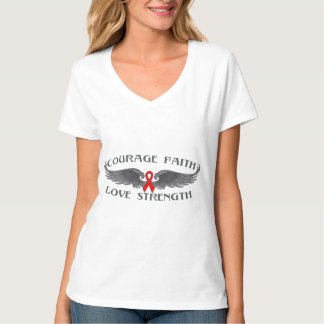 Stroke Disease Courage Faith Wings Tshirts