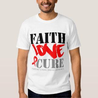 Stroke Disease Faith Love Cure Tshirt