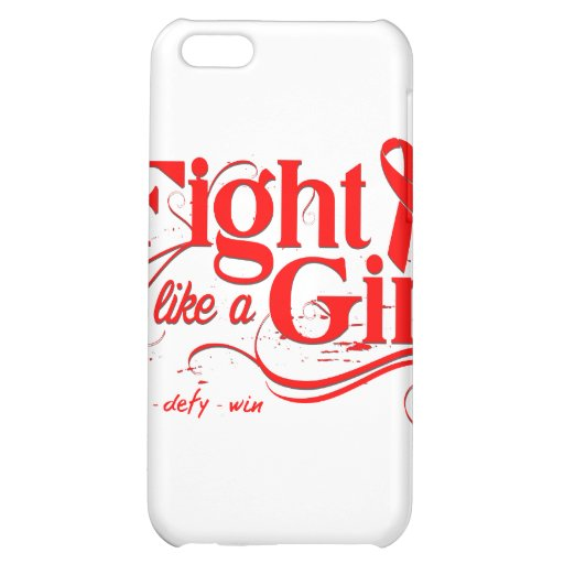 Stroke Disease Fight Like A Girl Elegant Cover For iPhone 5C