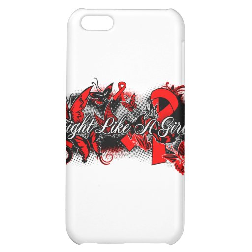 Stroke Disease Fight Like A Girl Grunge Butterfly iPhone 5C Cases