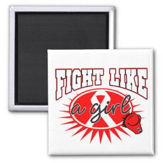 Stroke Disease Fight Like A Girl Sporty Callout Fridge Magnet