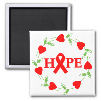Stroke Disease Hearts of Hope 2 Inch Square Magnet